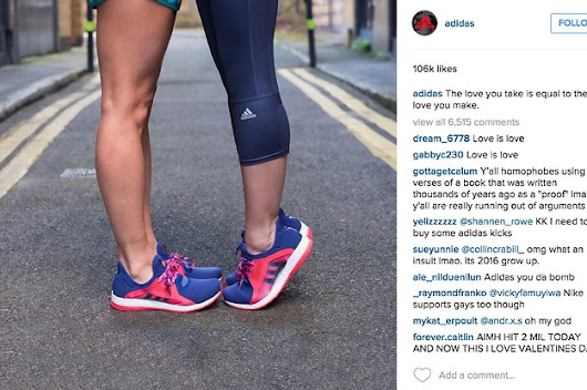 Adidas Just Perfectly Shut Down Homophobic Instagram Commenters