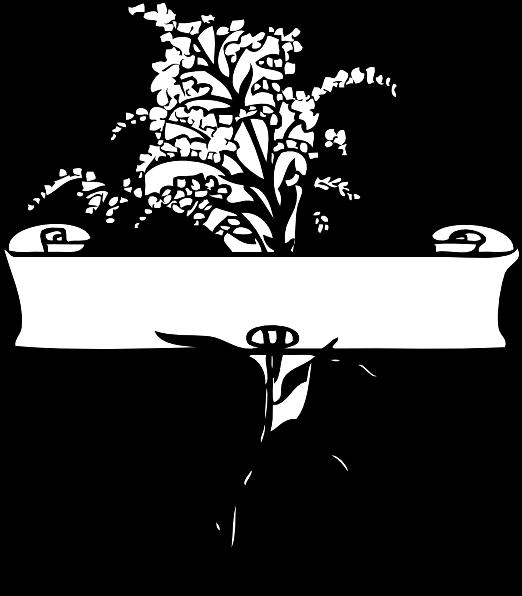 flower clip art borders. Scroll With Flower Spray clip