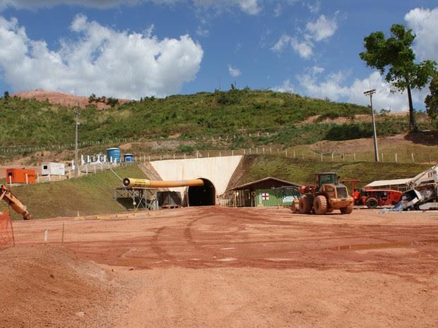 Entrada da nova mina subterrânea de Serra Pelada, na localidade de mesmo nome na cidade de Curionópolis, sul do Pará.(Foto: Vianey Bentes/TVGlobo) (Foto: Vianey Bentes/TV Globo)