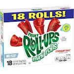 Betty Crocker Fruit Roll-Ups Mini Rolls Strawberry Craze Snacks - 18ct