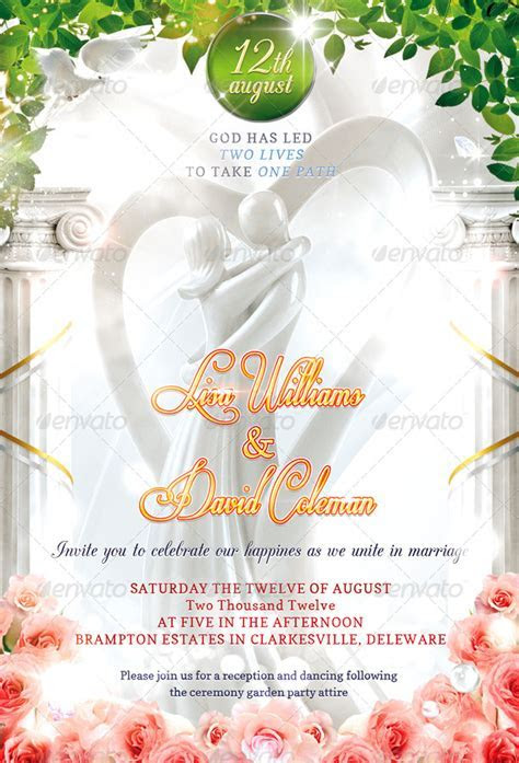 Wedding Invitation PSD Template by Masterflyer   GraphicRiver