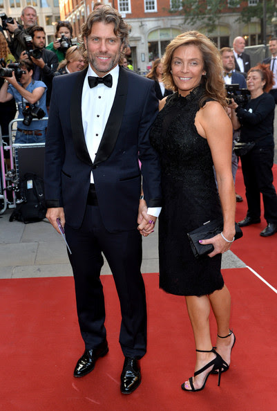 Melanie Bishop and John Bishop attend the GQ Men of the Year awards at The Royal Opera House on September 2, 2014 in London, England.