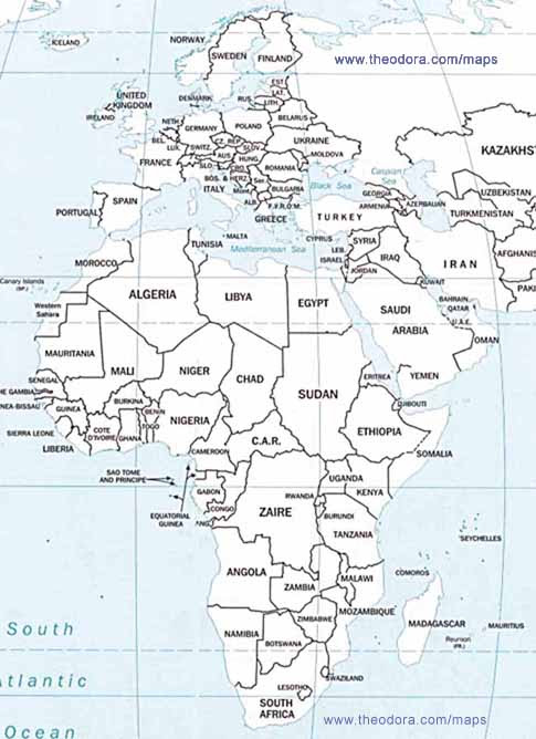 Map Of Europe And Africa