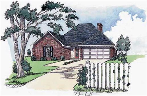 Small, European House Plans - Home Design RG1308 # 1760