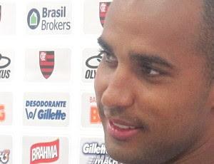 Deivid no treino do Flamengo (Foto: Janir Júnior / Globoesporte.com)