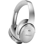 Bose QuietComfort 35 II Bluetooth Wireless Over-Ear Headphones with Mic and NFC - Noise-Canceling - Silver
