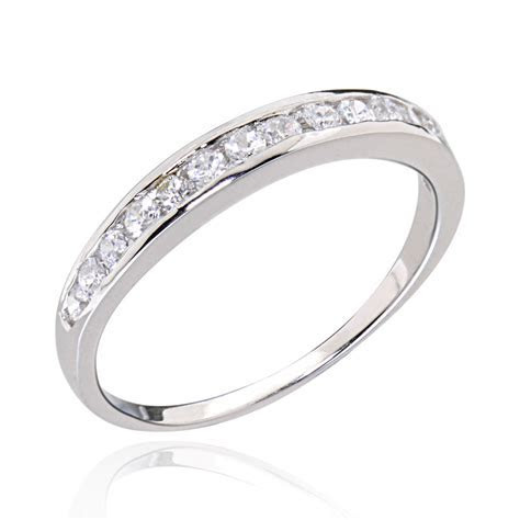 Sterling Silver Solitaire Clear Round Cubic Zirconia Women