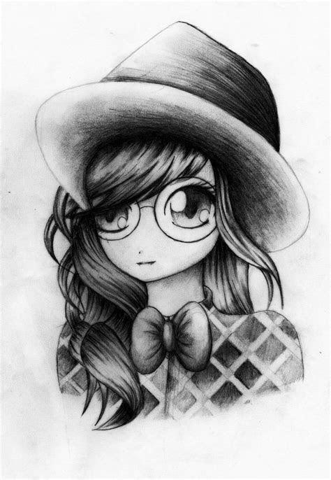 hipster vintage girl drawings images  pinterest