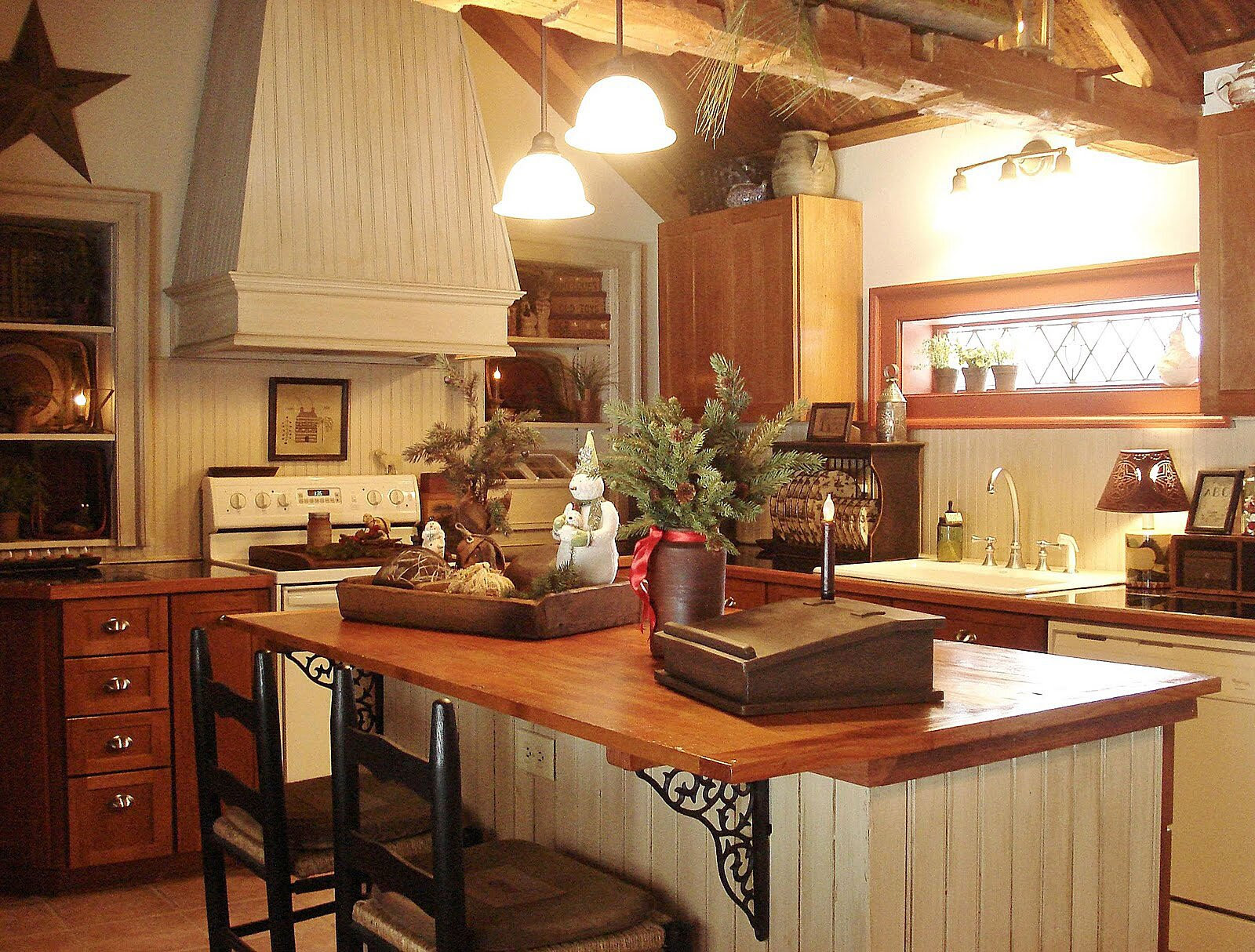 Decoration. Kitchen Island Decor With Lighting Stylish ...