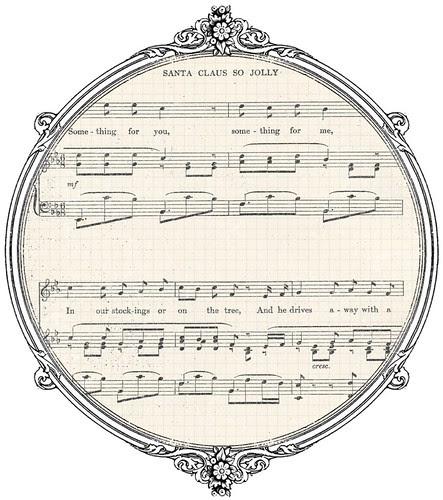 Vintage Christmas sheet music GF paper SAMPLE