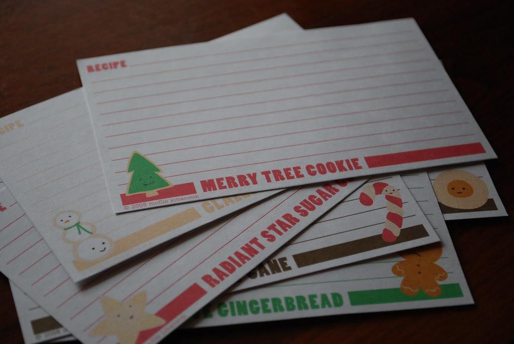 Cookies for Santa recipe cards
