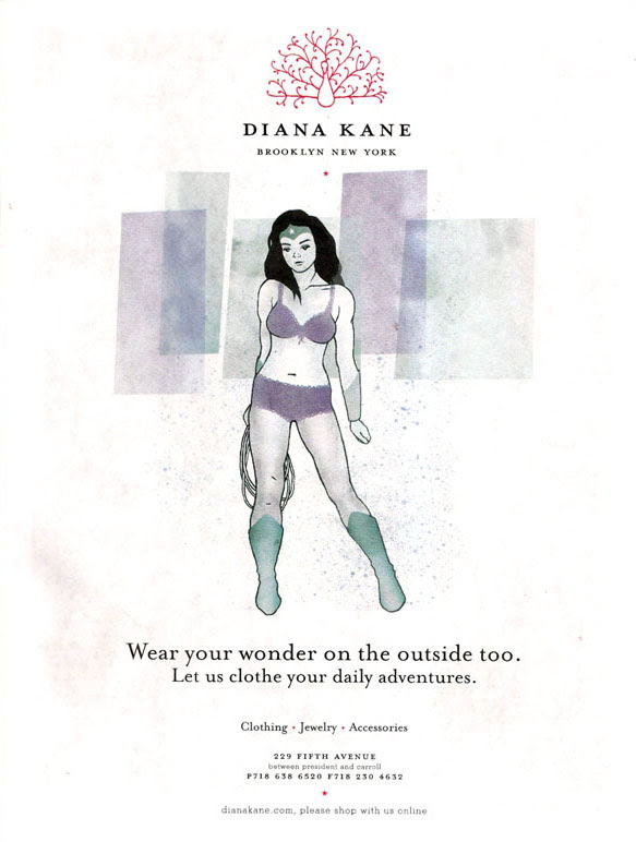 Wonder Woman ad for Diane Kane Boutique