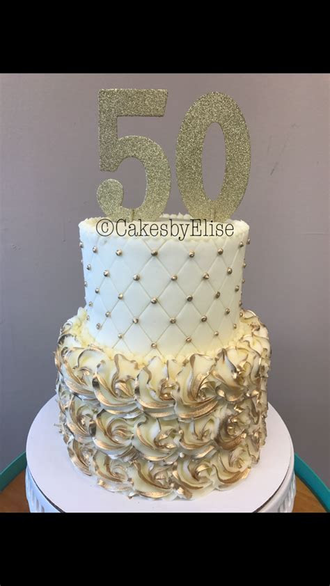50th anniversary cake.   Cakes By Elise in 2019   50th