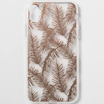 heyday Apple iPhone XR Case - Rose Gold Feathers, Pink Gold