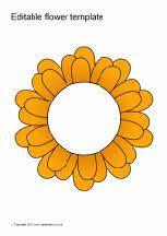 Editable coloured flowers templates   פרחים   Pinterest   Flower ...
