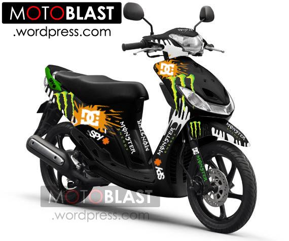 modifikasi mio sporty ala motogp terkeren