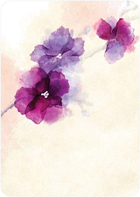 Soft Bougainvillea Watercolor Design Wedding Invitations