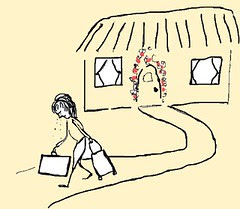 drawing - divorce - leaving home,sad