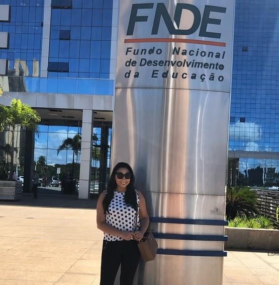 Vereadora Aize se despede de Brasília após visita ao FNDE.