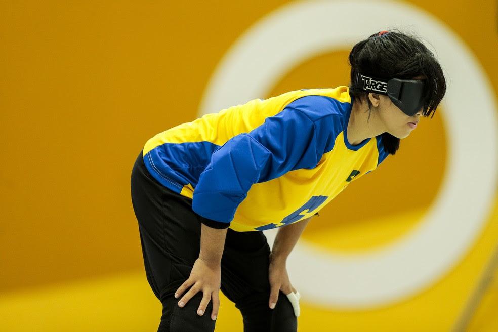 Amanda Santana fez 18 dos 32 gols do Brasil no Parapan de Jovens (Foto: Leandro Martins/CPB/MPIX)