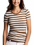 Women: The striped summer T - sepia stripe