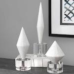 Uttermost Uttermost Alize White Stone Sculptures Set of 3