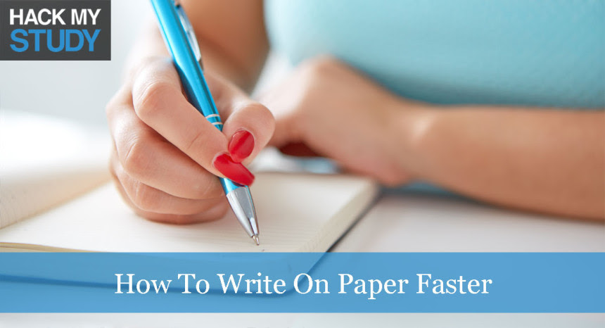 how to write essays faster in exams