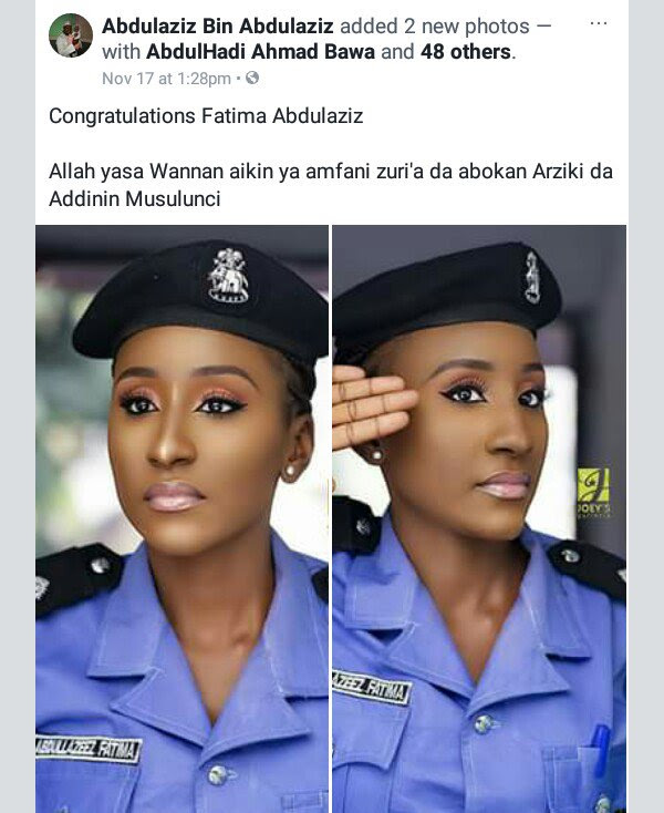The 'Famous' Nigerian Female Police Officer Still Beautiful In Makeup Free Photo