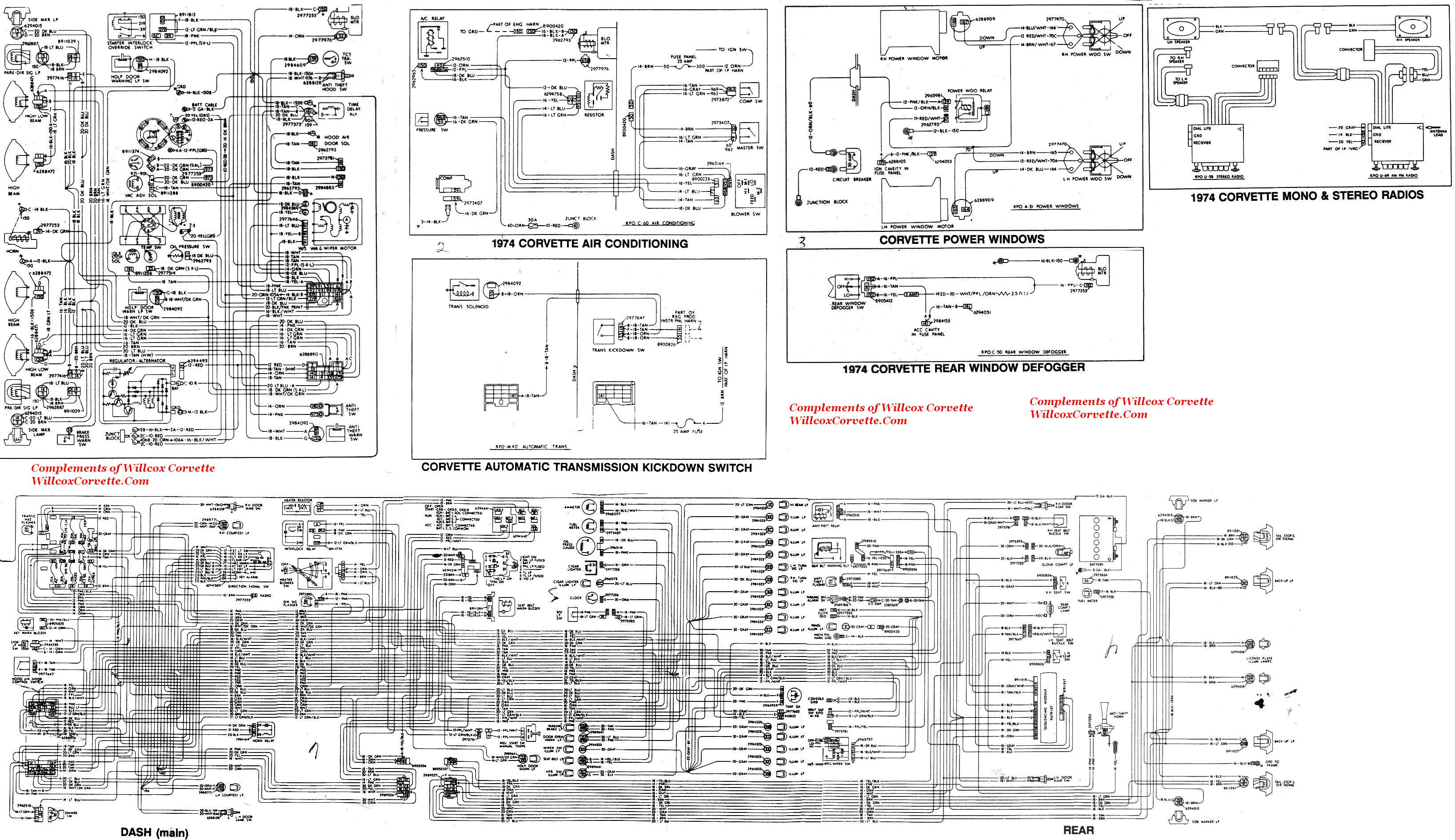 1974 Corvette Factory Wiring Schematic | Willcox Corvette ...