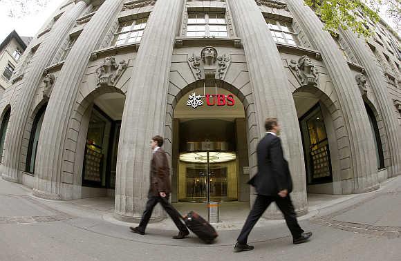 Ngân hàng Thụy Sĩ tại Zurich. (Ảnh: Rediff)
