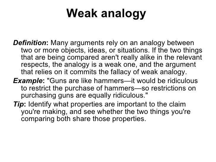 Analogy Argument Examples Gallery Example Cover Letter For Resume