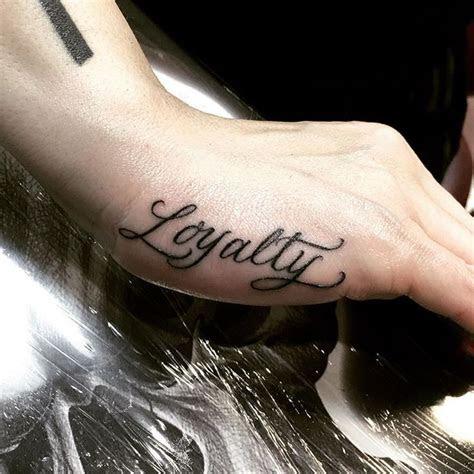 loyalty hand tattoos women finger tattoos loyalty