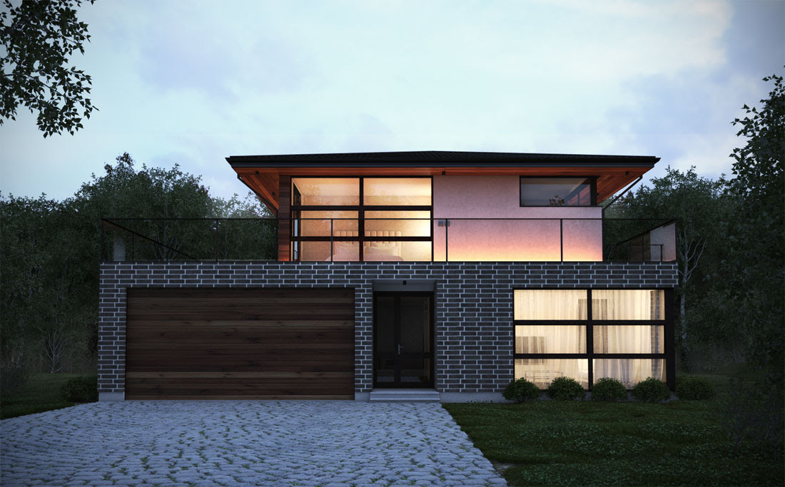 Inside  Outside  Modern House Plans from TOP Architects.