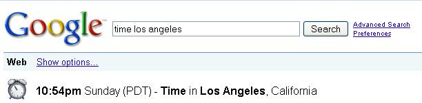 Google Identify Time in a Place