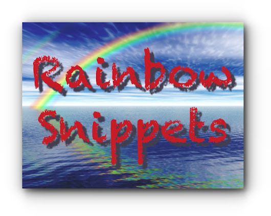 #RainbowSnippets April 29, 2017 – 'Til Death Do Us Part Anniversary Snip