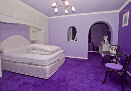 Um dos quatro quartos da casa