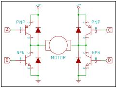 Typical transistor based H-Bridge circuit.