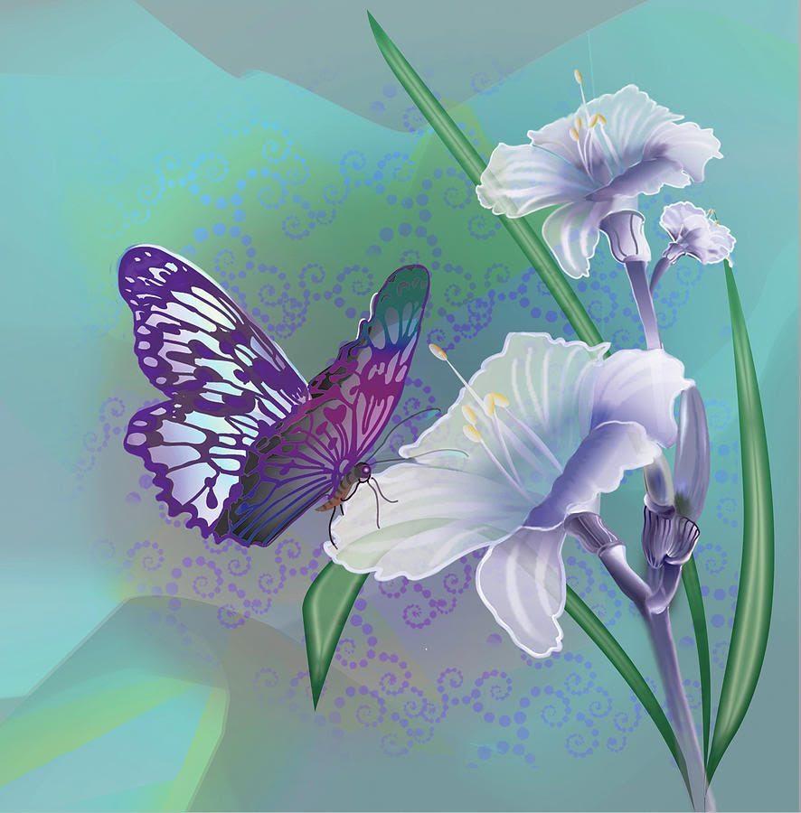 Mariposa En Una Flor Imágenes Y Fotos