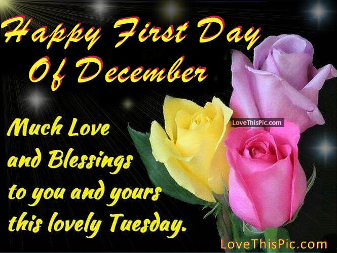 Happy First Day Of December Happy Tuesday Pictures Photos And