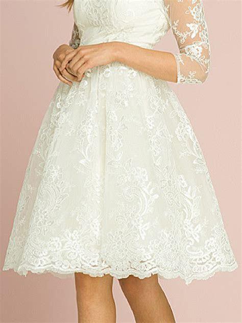 Veronica Cream 1950s Wedding Tea Dress   50s Style Wedding