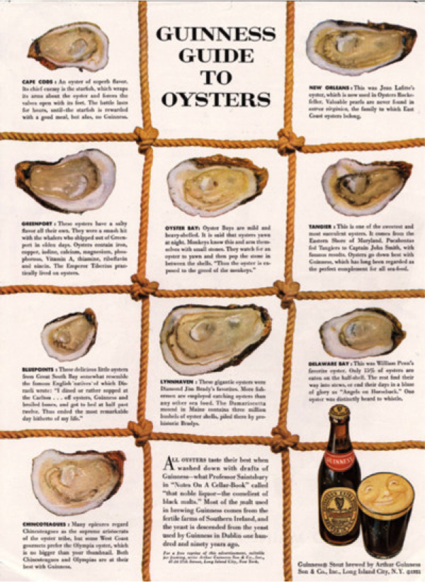 This is a picture of the 1950s advertisement for Guinness created by David Ogilvy's firm. Today, we would call it content marketing.
