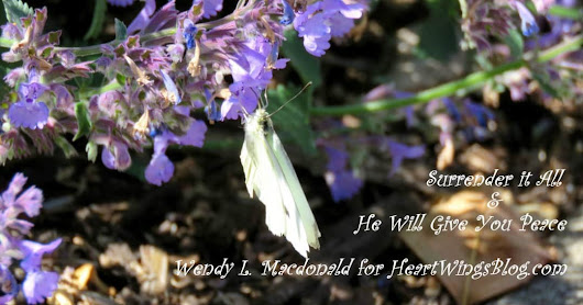 Surrender it All & He Will Give You Peace - HeartWings Blog