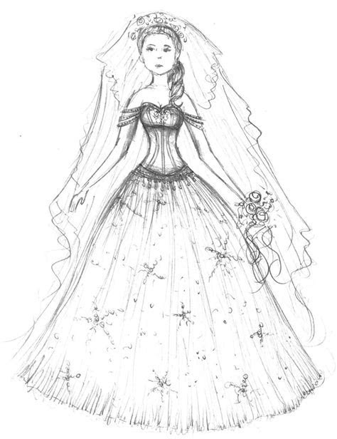50 Wedding Dress Coloring Pages, Wedding Dress Coloring