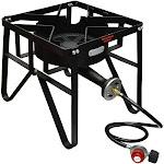 16'' SQUARE High Pressure Propane Gas Stove Single Burner Outdoor Cooker