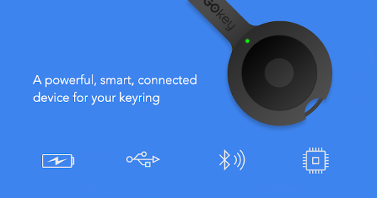 GOkey: Charger. Cable. Locator. Memory. All on your key-ring.