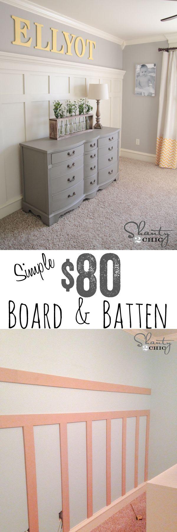 Easiest EVER DIY Board Batten wall tutorial.