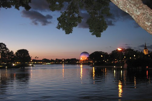 Epcot at night...before the fireworks.