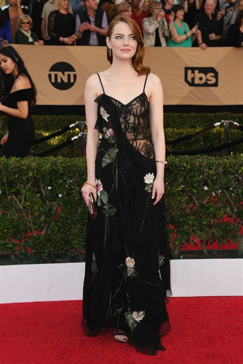 Emma Stone's Out of Context Alexander McQueen at the SAG