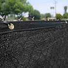 Clevr 6' x 50' Black Fence Windscreen Privacy Screen Shade Cover Fabric Mesh Garden