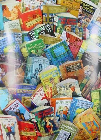 Vintage children's books wrapping paper